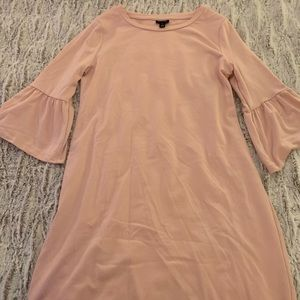 Light Pink Dress with Unique Ruffle Sleeves
